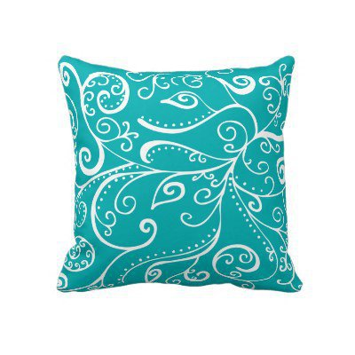 Silent Era | Robin Blue Throw Pillows by Janet Antepara