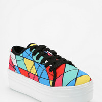 Y.R.U. Geometric Low-Top Flatform-Sneaker