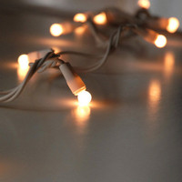 White 50 Pearlized 8mm Globe String Lights White wire 17.5 ft $5.99 each