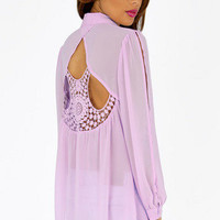 Eyelet You Back Blouse $33