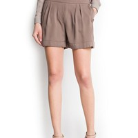 MANGO - CLOTHING - Shorts - Pleated shorts