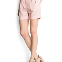 MANGO - NEW - Pleated linen short