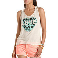 Knot Back Tribal Heart Tank: Charlotte Russe