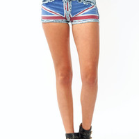 Union-Jack-Denim-Shorts BLUERED - GoJane.com