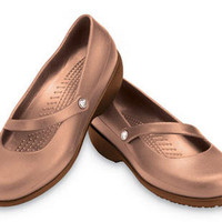 CROCS RX SILVER FOX WOMEN 5 BROWN/BRONZE MARY JANE DIABETIC SHOES COMFY MEDICAL