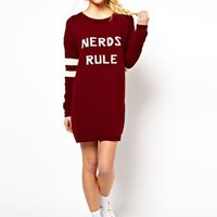 ASOS Nerds Rule Jumper Dress at asos.com