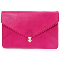 Clutch and Go Fuchsia Clutch