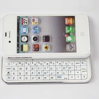Slide-out Back Light Keyboard for iPhone4/4S-White