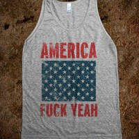 America Fuck Yeah (Tank) - Spring Breaker - Skreened T-shirts, Organic Shirts, Hoodies, Kids Tees, Baby One-Pieces and Tote Bags