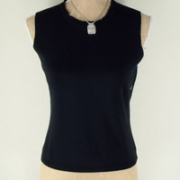 NEW! Casual Corner Silk Knit stretch tank top black sleeveless M MEDIUM vest
