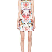 Carven | Printed Poplin Dress in Multi Color www.FORWARDbyelysewalker.com