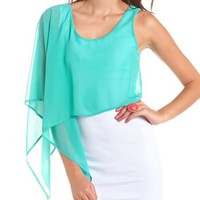 One Shoulder Chiffon Overlay Dress: Charlotte Russe