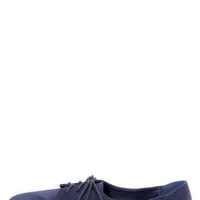 City Classified Desta Navy Blue Lace-Up Oxfords