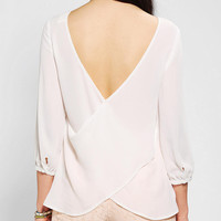 Pins And Needles Silky Surplice Back Blouse
