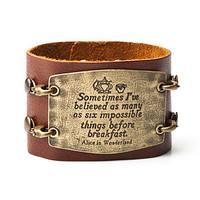 Leather Statement Cuff