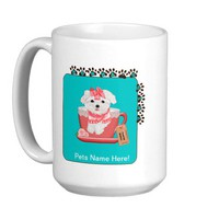 Momma's Girl Coffee Mug - Teacup Baby, Pink from Zazzle.com