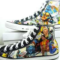 Men's X Men Comic Book Custom Sneakers Cool by Moonlightdecorator