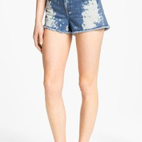 STS Blue Bleached High Waist Shorts (Juniors) | Nordstrom