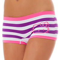 Hello Kitty Panty Seamless Striped Purple
