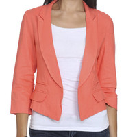 Ruched Sleeve High-Low Blazer | Shop Jackets at Wet Seal