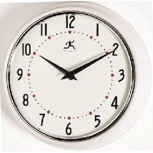 Amazon.com: Infinity Instruments Retro Round Metal Wall Clock, White
