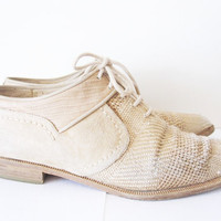 vintage woven oxford laced via spiga shoes by telloandrose on Etsy