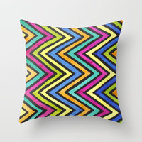 Dazzle Throw Pillow by Erin Jordan