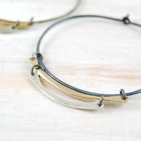 Supermarket - Mixed Metal Trio Round Hoop Earrings from fail
