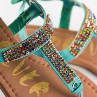 Jeweled Thong Sandals - Blue from zSandals at Lucky 21 Lucky 21