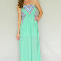 Azteca Maxi Dress | Girly Girl Boutique