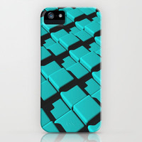 Cyan Tiles in 3D iPhone & iPod Case by Lyle Hatch