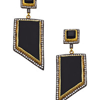 Blossom Box Onyx Geometric Drop Earrings - Max & Chloe