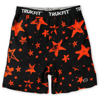 Trukfit Orange Stars Black Knit Boxers