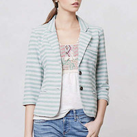 Anthropologie - Striped Terry Blazer