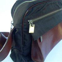 Brown Leather Bag Camera Messenger Travel by VillaCollezione