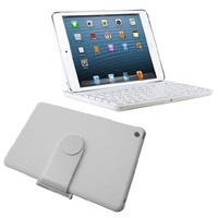 New SHARKK Apple iPad Mini Keyboard Bluetooth Case Cover Stand For 7.9 Inch New Mini iPad With 360 Degree Rotating Feature And Multiple Viewing Angles. Folio Style with IOS Commands. For the iPad MINI ONLY (iPad mini, White):Amazon:Electronics