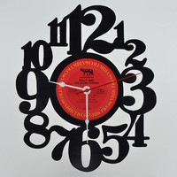 Unique Home Decor Vinyl Record Wall Clock (artist is Billy Joel)