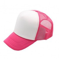 Rhodo Color Block Design Baseball Cap with Grid Sheer Back