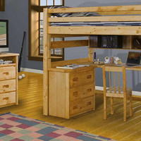 Glencoe Twin Size College Loft Bed
