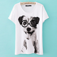 Cute Dog Slim T-shirt