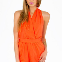 At The Halter Romper $39