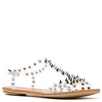 Jeffrey Campbell The Puffer Sandal in Clear and Silver : Karmaloop.com - Global Concrete Culture