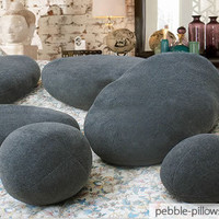 Dark Grey Living Stone Pillows