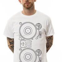 Music Merch The Chuck Inglish x Turntable Tee in White