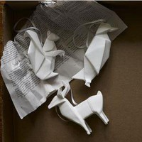 Porcelain Origami Ornaments | west elm