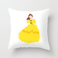 Belle - Beauty and the Beast Disney Throw Pillow by DanielBergerDesign