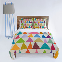 DENY Designs Home Accessories | Nick Nelson Analogous Shapes In Bloom Duvet Cover