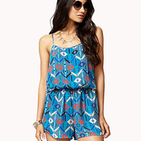 Tribal Print Surplice Romper