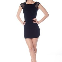 Start Simple Short Sleeve Knit Dress - Black from Evening & Club at Lucky 21 Lucky 21