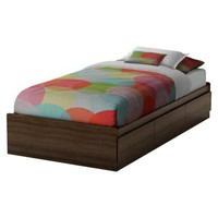 Dainty Storage Kids Bed - Mocha
